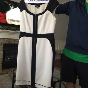 b030b0b46905c0 ... Chetta B black and white dress size 8 ...